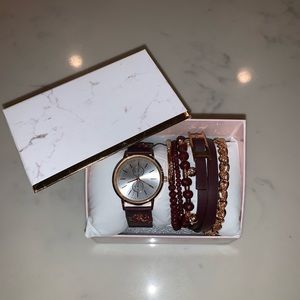 Watch and jewelry set